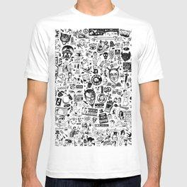SATANIC PANIC! Vintage Clip Art Zine Style Collage T-shirt