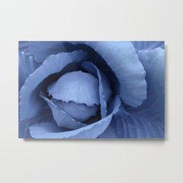 Blue Cabbage Metal Print