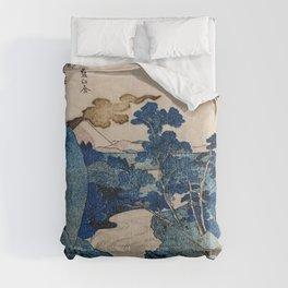 Cottages On Cliffs Traditional Japanese Landscape Comforters