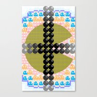 pacman Canvas Prints featuring PacMan  by Freckled King