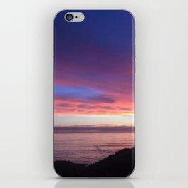 Purple and Pink Summer Beach Sunset iPhone Skin