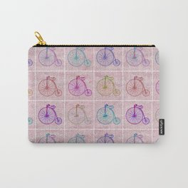 Penny Farthing Vintage Pink Repeat Pattern Carry-All Pouch