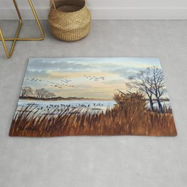 Duck Hunting Season Begins For The Canvasback Rug