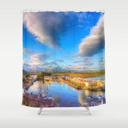 Sunset at Porthmadog Shower Curtain