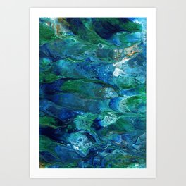 Underwater Flow Acrylic Abstract Painting Art Print