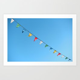 Colorful and minimal party Art Print