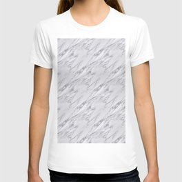 Black White Actual Real Classic Marble Stone T-shirt