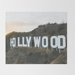 Hollywood Sign (Los Angeles, CA) Throw Blanket