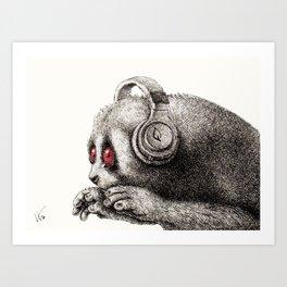 DJ SLOW LORIS Art Print