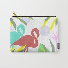 Flamingo jungle Carry-All Pouch