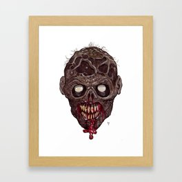 Heads of the Living Dead Zombies: Something Dead Zombie Framed Art Print