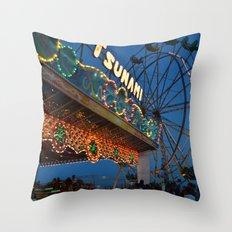 Tsunami Lights Throw Pillow