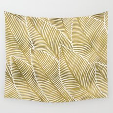 Tropical Gold Wall Tapestry