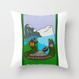 Dream house Throw Pillow