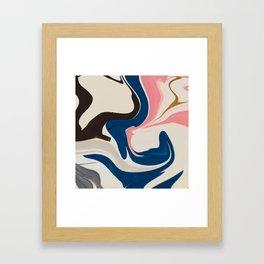 Soft Pastel Marble Framed Art Print