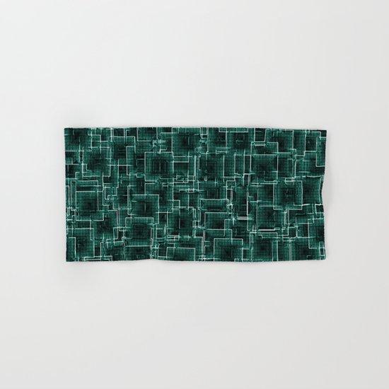 The Maze - Teal Hand & Bath Towel