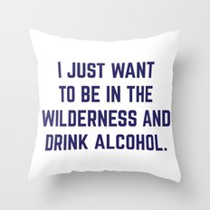 Wilderness & Booze Throw Pillow