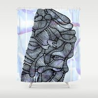 - summer strangers - Shower Curtain
