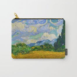Wheat Field with Cypresses Vincent van Gogh Oil on canvas 1889 Carry-All Pouch