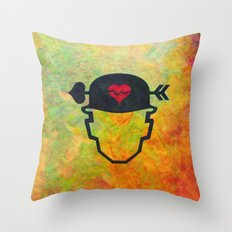 Soldier of love Throw Pillow