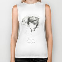 marina Biker Tanks featuring Marina by Veronica Cosimetti Art