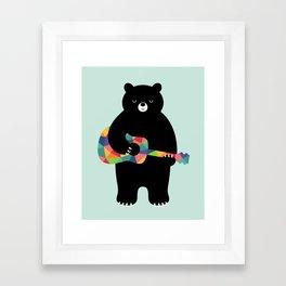 Happy Song Framed Art Print