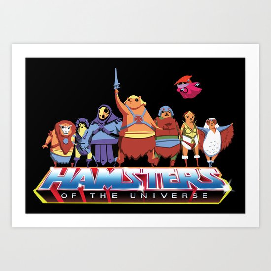 Hamsters Of The Universe Art Print
