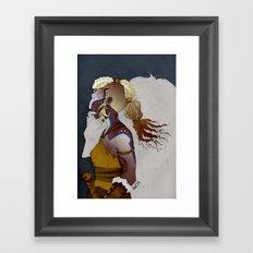 Wolf Warrior Framed Art Print