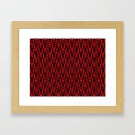 Red Skulls Framed Art Print