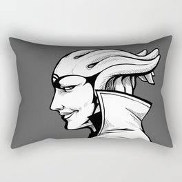 Aria - B&W profile Rectangular Pillow