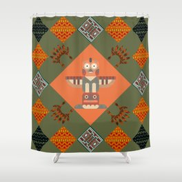Indian patchwork37 Shower Curtain