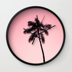 palm tree ver.pink Wall Clock