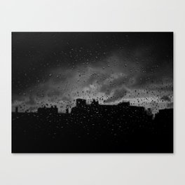 Rainy Day in Brussels Canvas Print