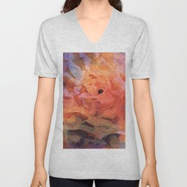 Soft Twilight Rose Unisex V-Neck