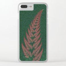 Fall Fern Fractal Clear iPhone Case