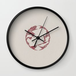 Pull (Red) Wall Clock