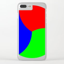 Red Green Blue Thirds of of Circle Clear iPhone Case