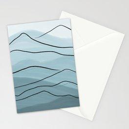 Misty Blue Mountains Stationery Cards