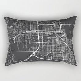 Beaumont Map, USA - Gray Rectangular Pillow