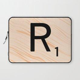 Scrabble Letter R - Large Scrabble Tiles Laptop Sleeve