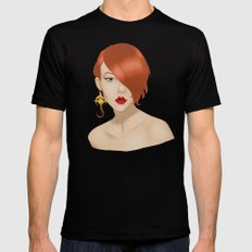 Posh in Space Black Mens Fitted Tee SMALL