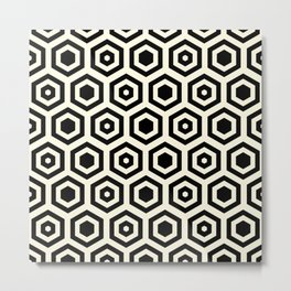 Geometric background in Black #society6 #decor #buyart #artprint Metal Print