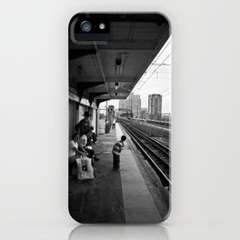 Waiting for Train iPhone Case