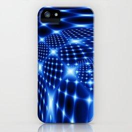 Glowing net fractal iPhone Case