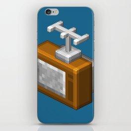 Retro TV television pixel art iPhone Skin
