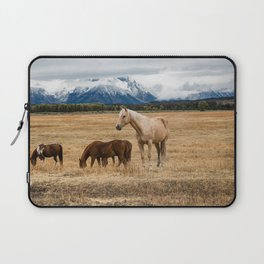Mountain Horse - Western Style in the Grand Tetons Laptop Sleeve