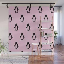 Pink Penguin Wall Mural