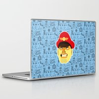 street fighter Laptop & iPad Skins featuring Bison - Street Fighter by Kuki