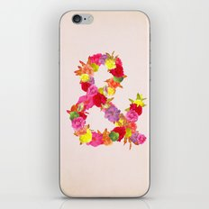 Flower Ampersand iPhone Skin