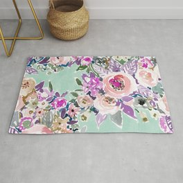 Mint SO LUSCIOUS Painterly Floral Rug